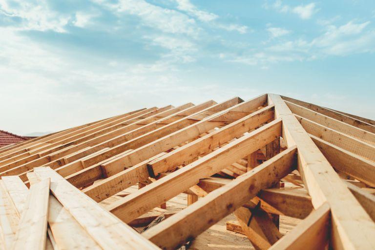 Tetto in legno lamaellare