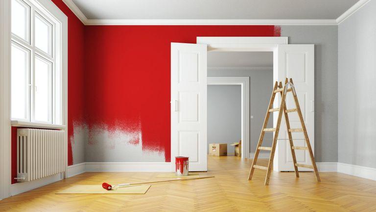 verniciare le pareti con effetti